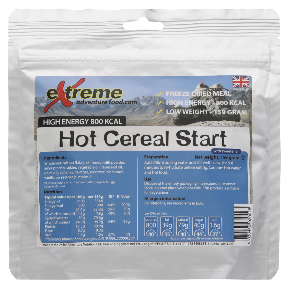 Extreme Food Extreme Food Freeze Dried Food High Energy 800Kcal Breakfast   Dehydrated Food