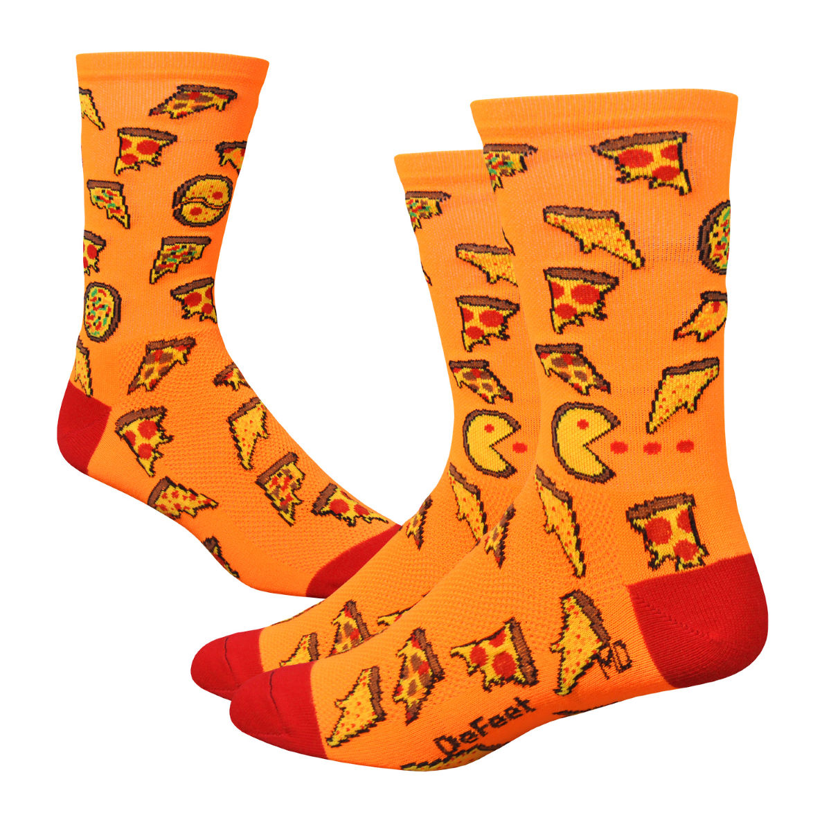 "DeFeet DeFeet Aireator 6"" Pizza Party Socks   Socks"