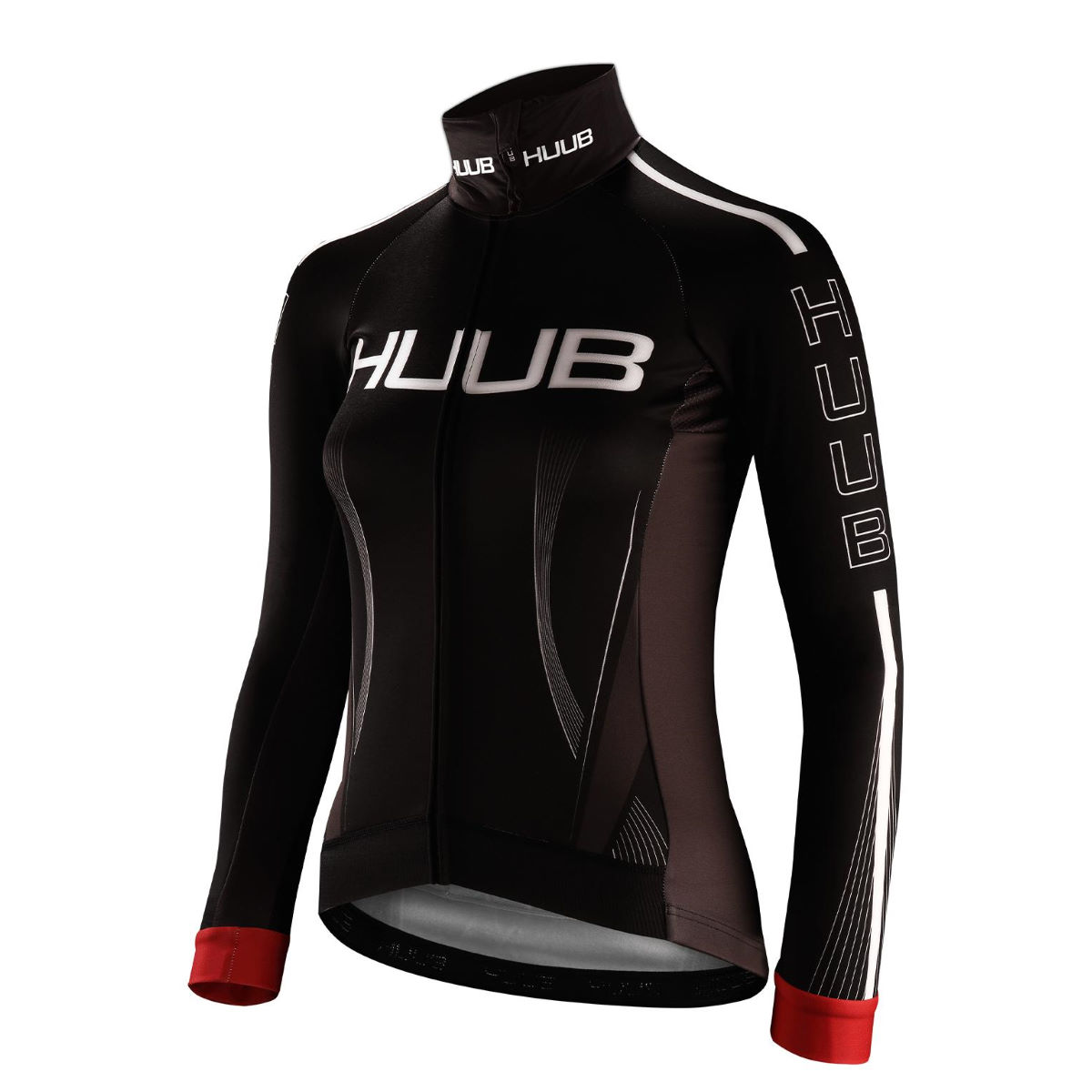 HUUB Women's Core All Elements Jacket – Extra Extra Large Black/Red