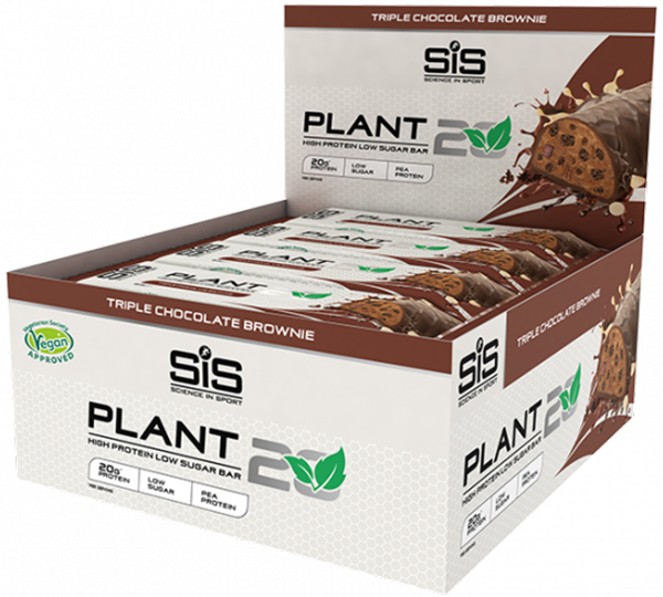 Science in Sport Plant20 Protein Bar (12 x 64g) | Proteinbar og -pulver