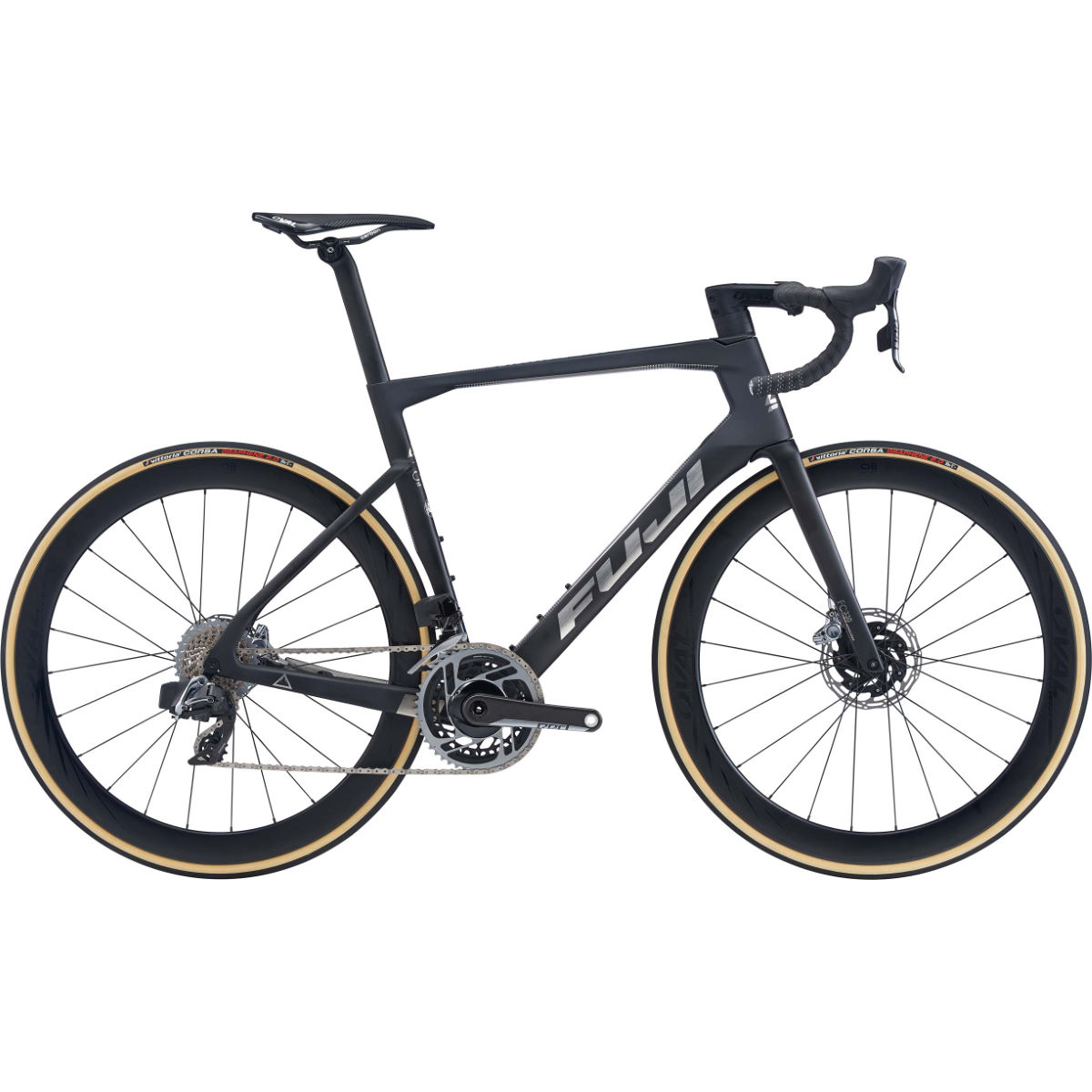 Fuji Transonic 1.1 Disc Road Bike (2020) – 54cm Satin Carbon – Chrom
