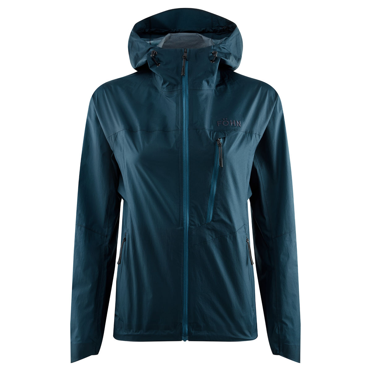 Fhn Womens Packable 2.5l Hooded Jacket - Uk 14 Blue  Jackets