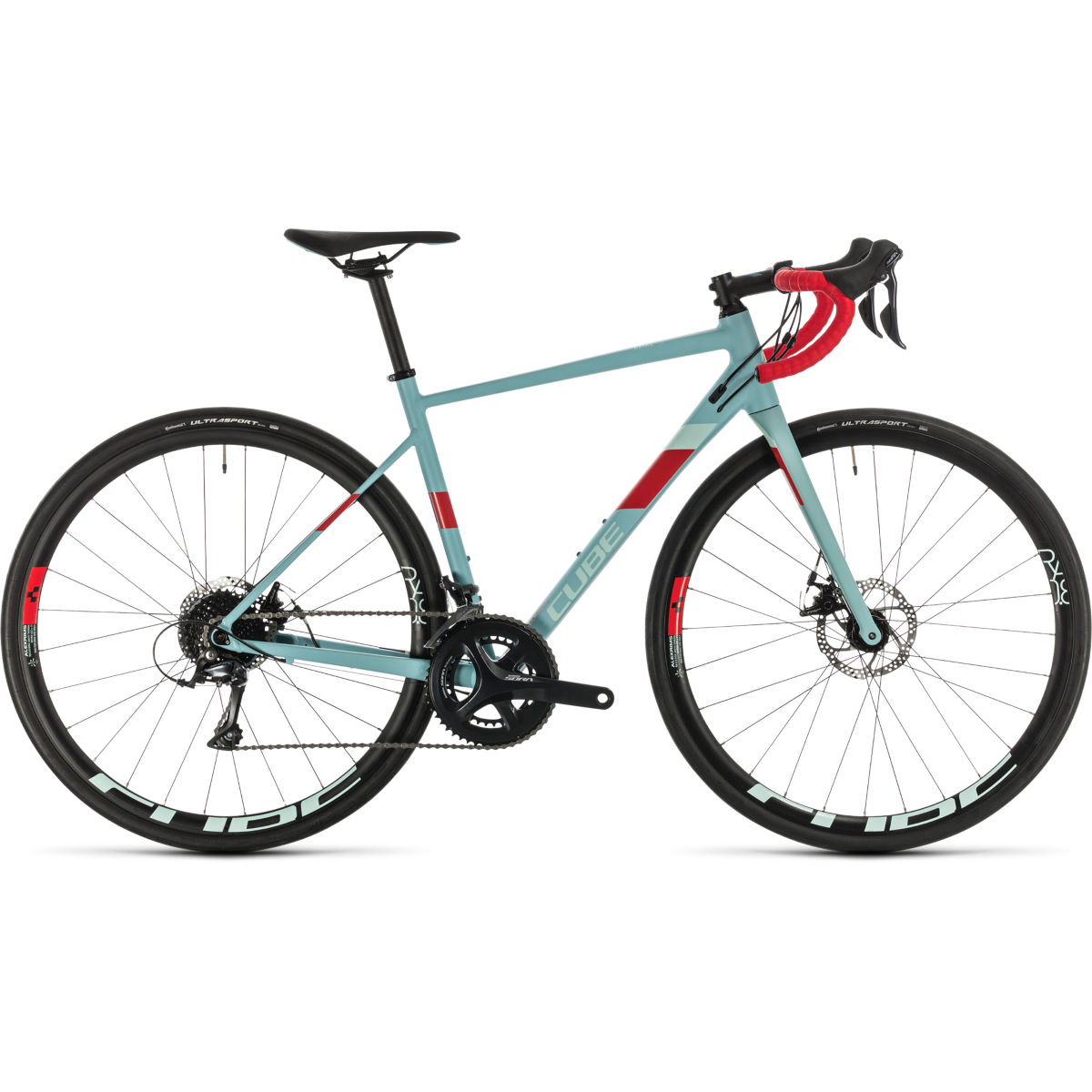 Cube Axial WS Pro Womens Road Bike (2020) - 53cm Greyblue - Coral