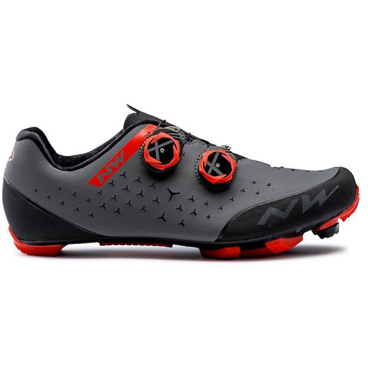 Northwave Rebel Mtb Shoes - 42 Anthracite/red  Cycling Shoes