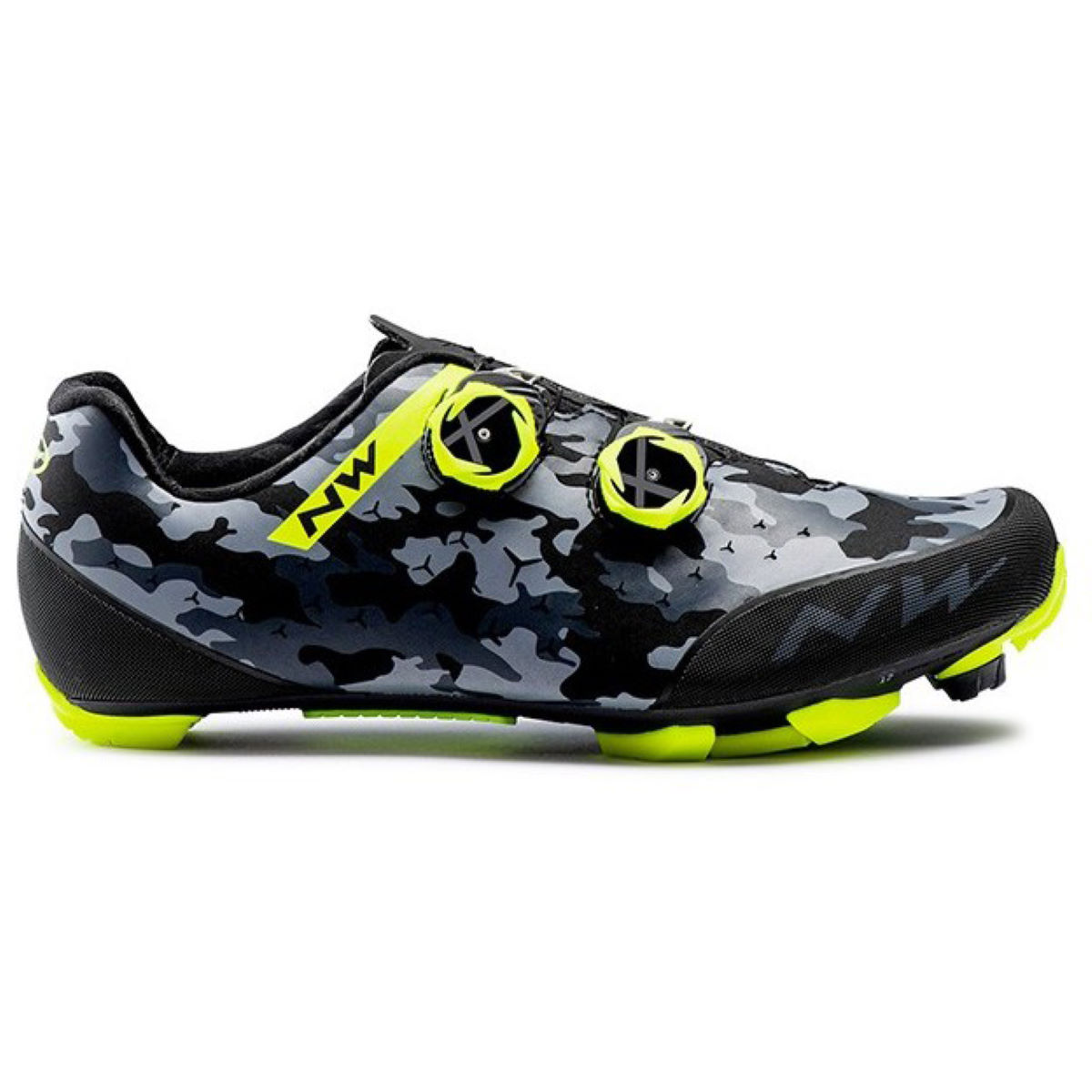 Northwave Rebel Mtb Shoes - 45 Camo Black / Yellow   Cycling Shoes