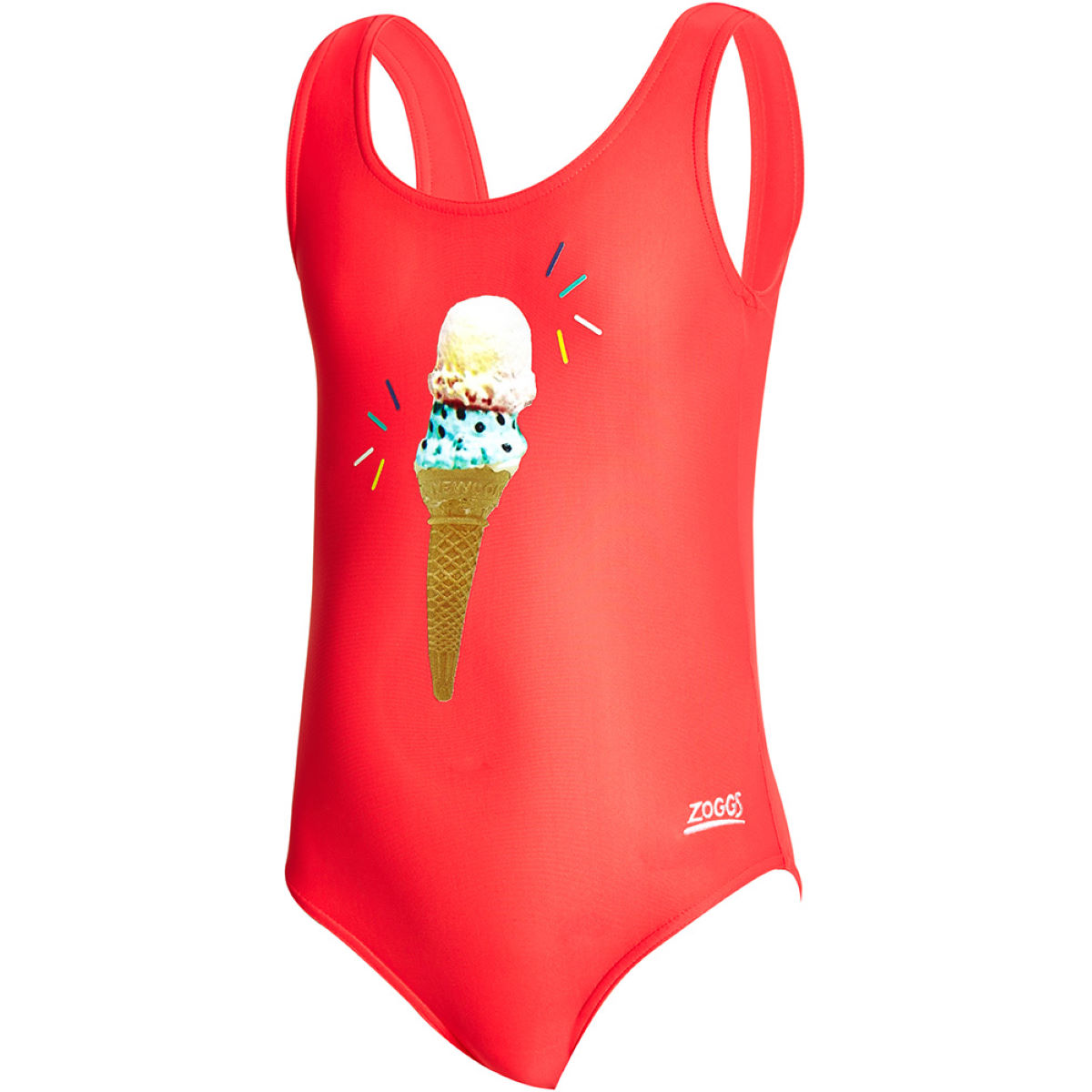 Image of Zoggs Girls Ice Dream Scoopback Swimsuit One Piece Swimsuits