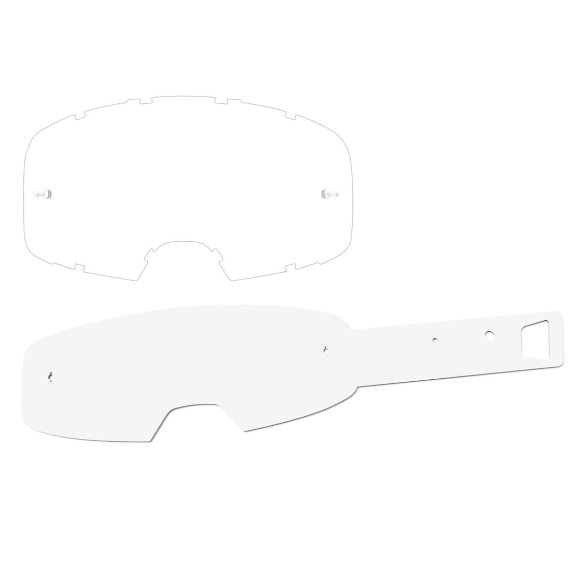 Ixs Trigger/hack Goggle Tear-off Kit - One Size Clear