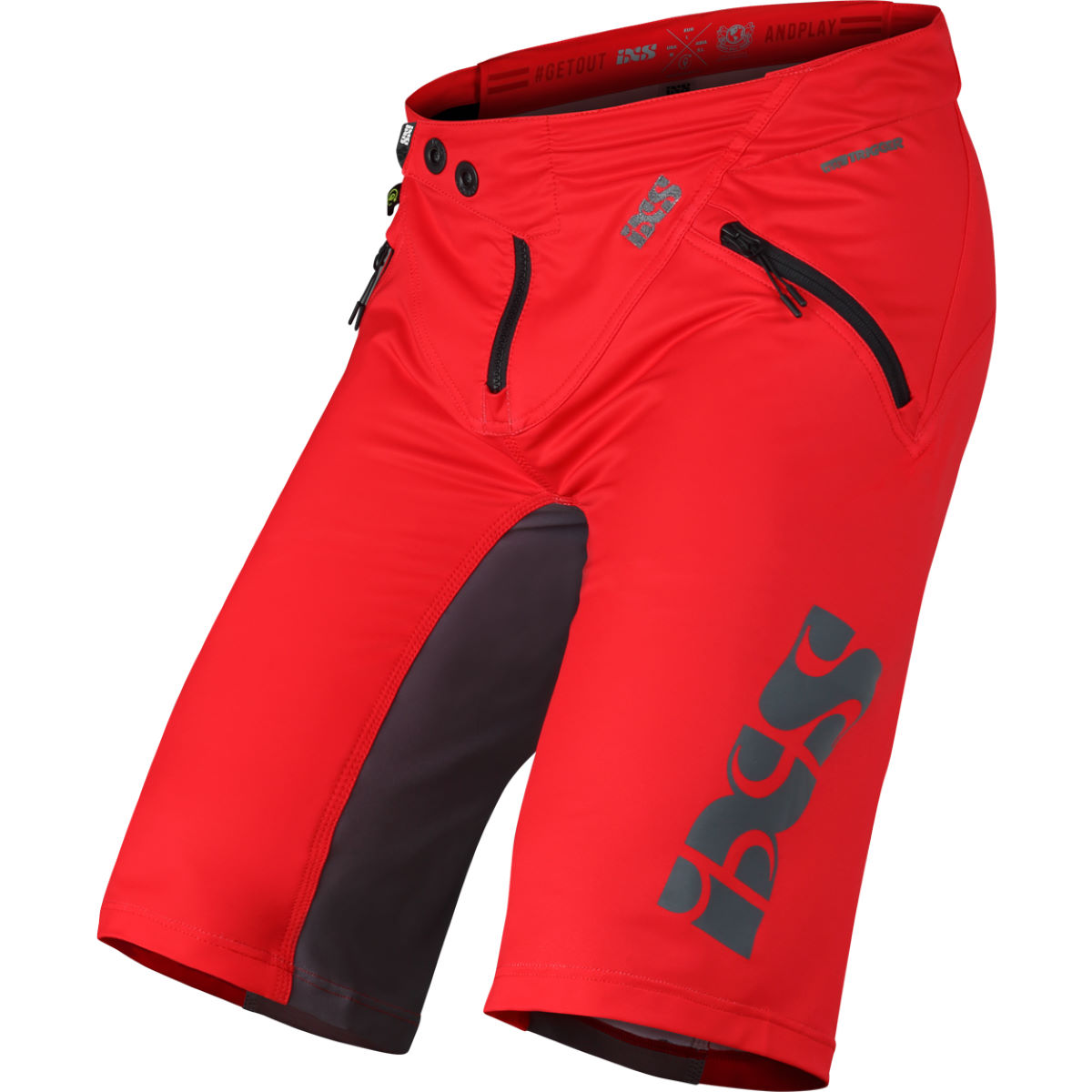 Ixs Trigger Shorts - Xl Red-graphite  Baggy Shorts