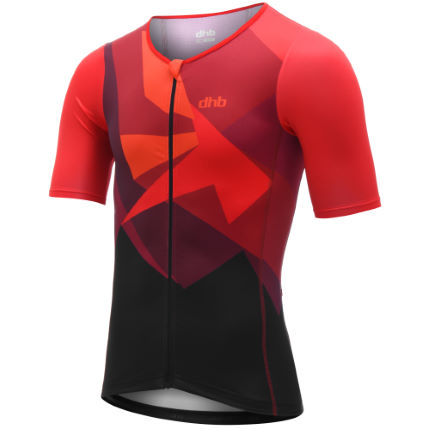 dhb Blok Tri Short Sleeve Top - Vesuvio