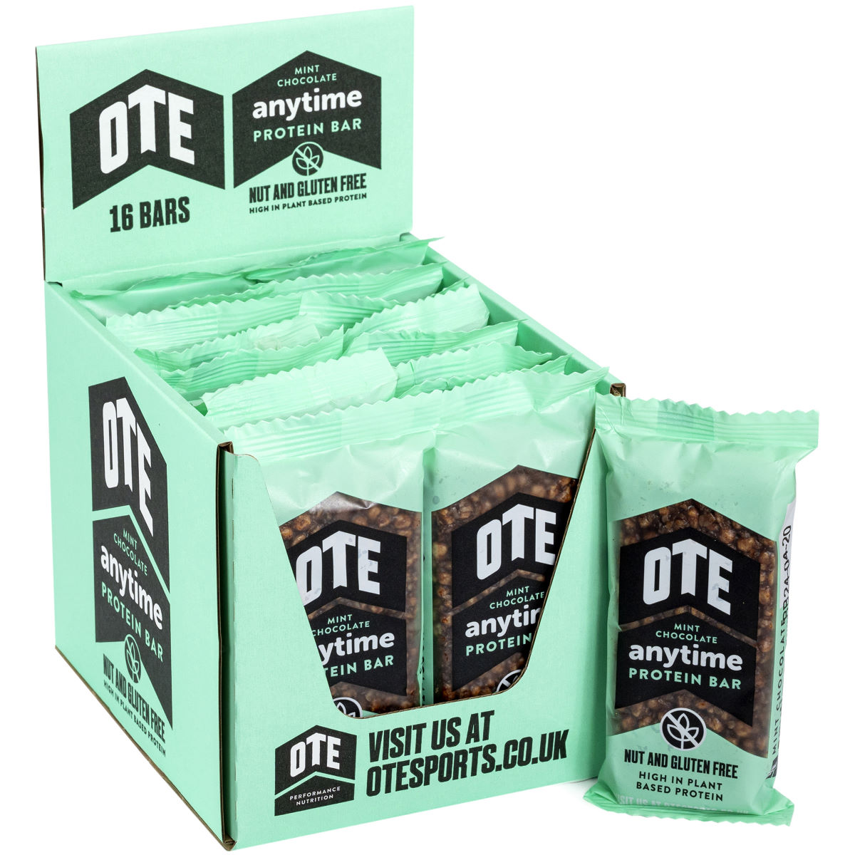 Ote Anytime Plant Based Protein Bar (16 X 55g) - One Size  Bars
