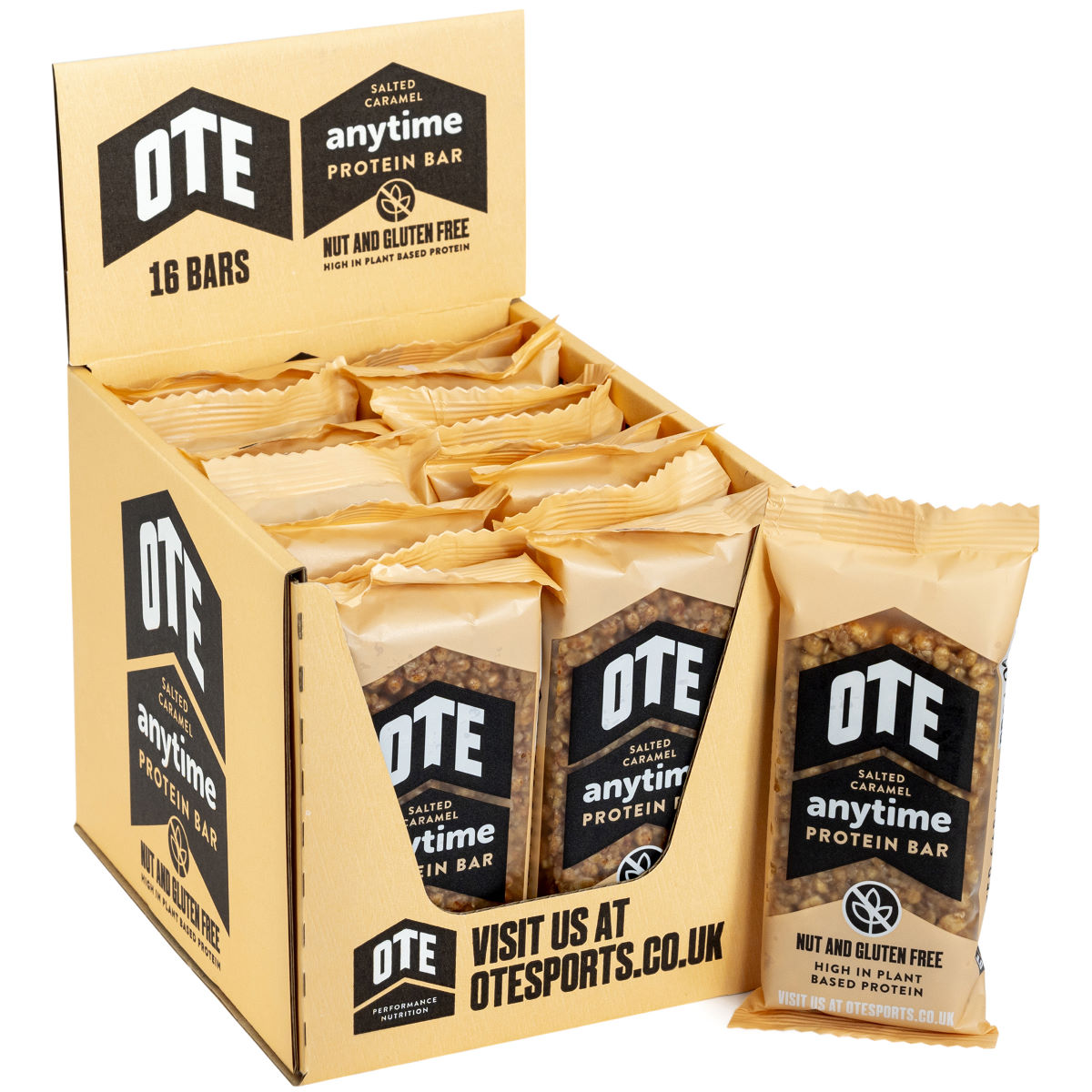 Ote Anytime Plant Based Protein Bar (16 X 55g) - One Size Caramel