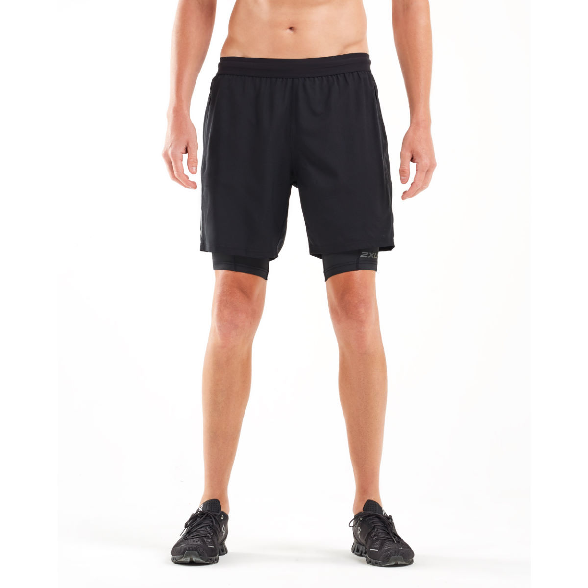 2Xu 2XU XVENT 7 Inch 2 in 1 Compr Short   Compression Shorts