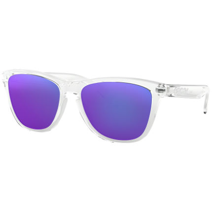 Oakley Frogskins Polished Clear Prizm Violet Sunglasses
