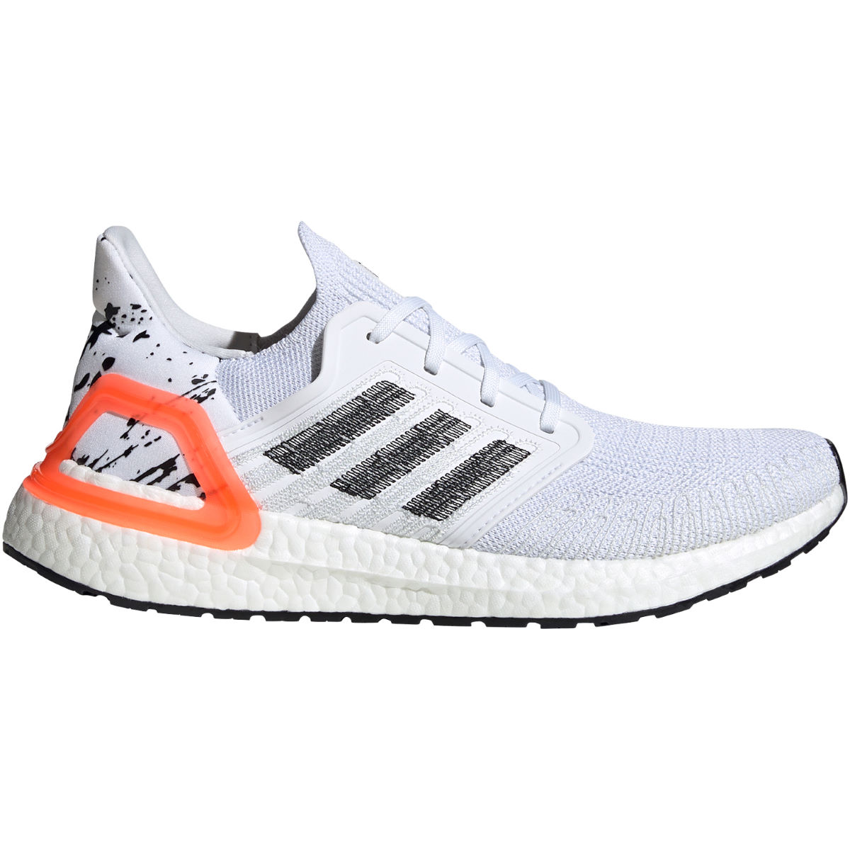 adidas Ultraboost 20 Running Shoes - UK 8 White/ Black/ Coral