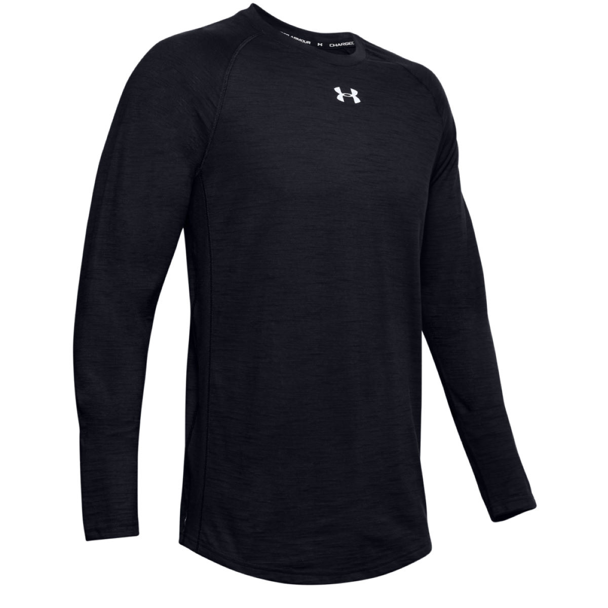 Under Armour Charged Cotton Long Sleeve Top - Medium  Training Tops