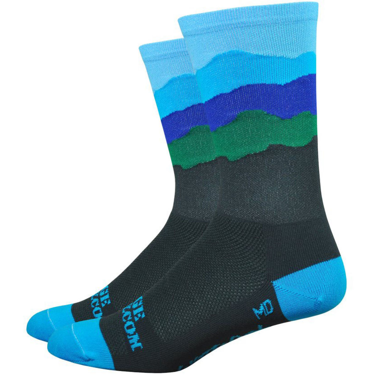 "DeFeet DeFeet Aireator 6"" Ridge Supply Skyline Appalachia Socks   Socks"