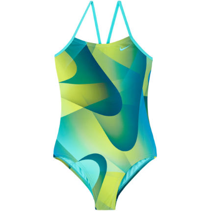 Nike Girl's Spectrum Cut Out one piece swimsuit