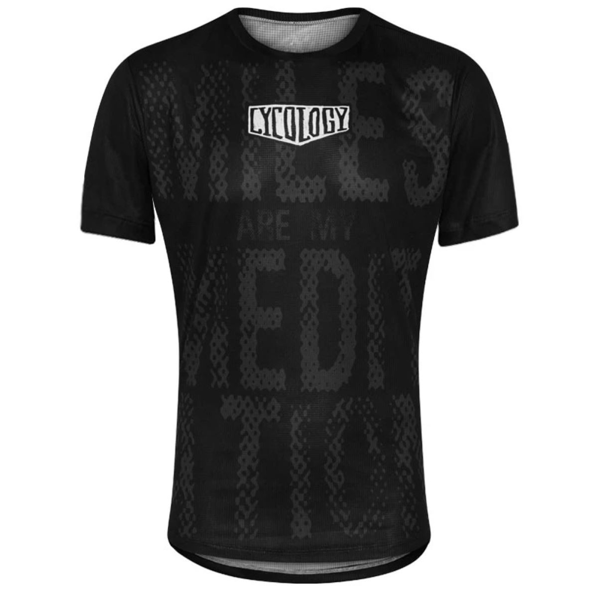 Cycology Miles Are My Meditation Mens Technical T-shirt - L Black