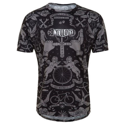 Cycology Velo Tattoo Mens Technical T Shirt