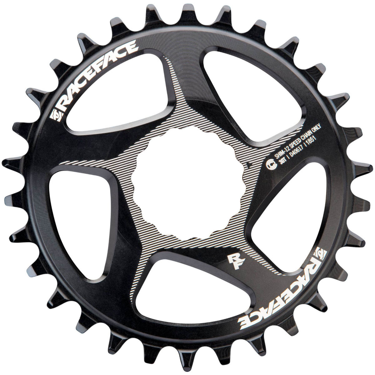 Race Face Direct Mount Shimano Chainring - 30t Black  Chain Rings