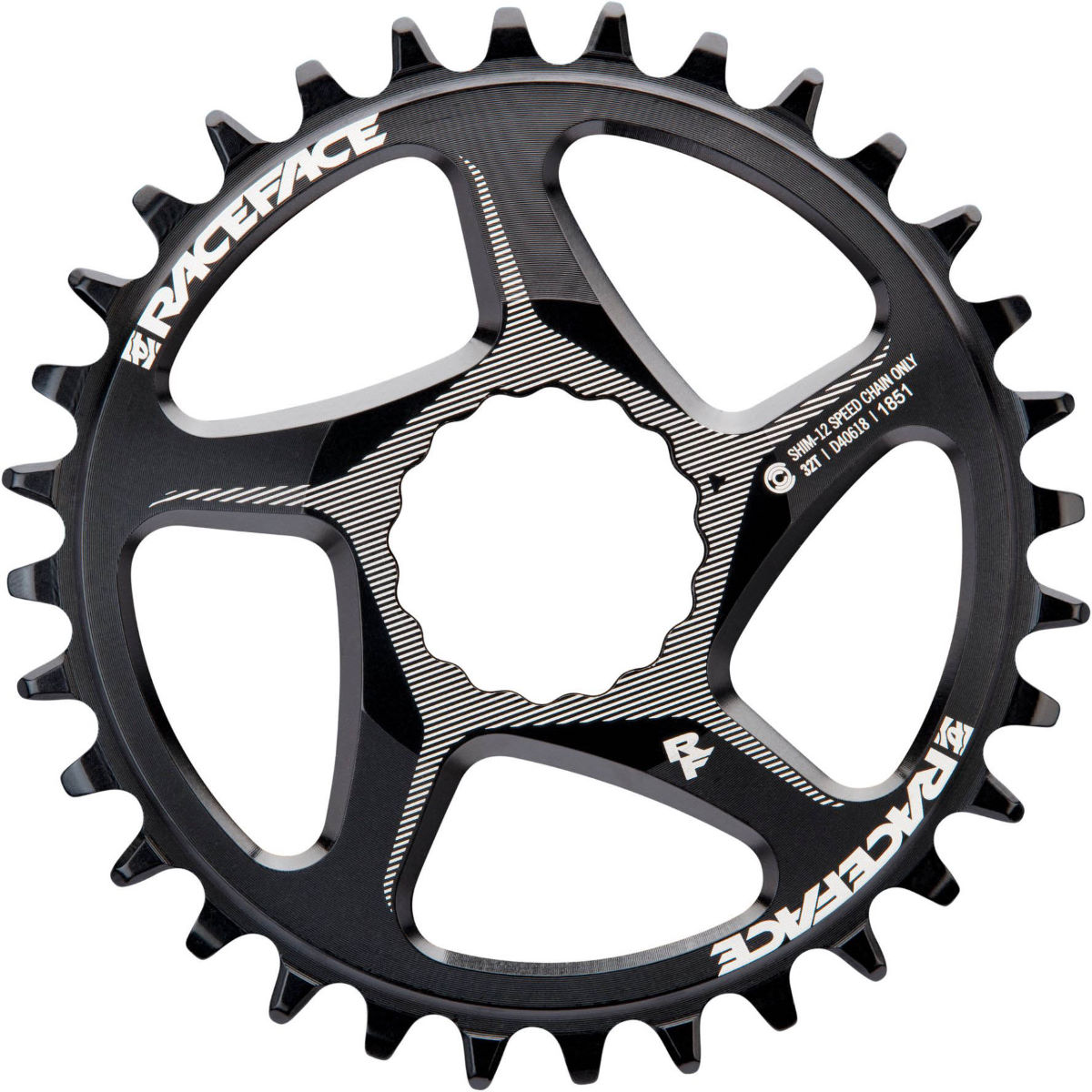 Race Face Direct Mount Shimano Chainring - 32t Black  Chain Rings