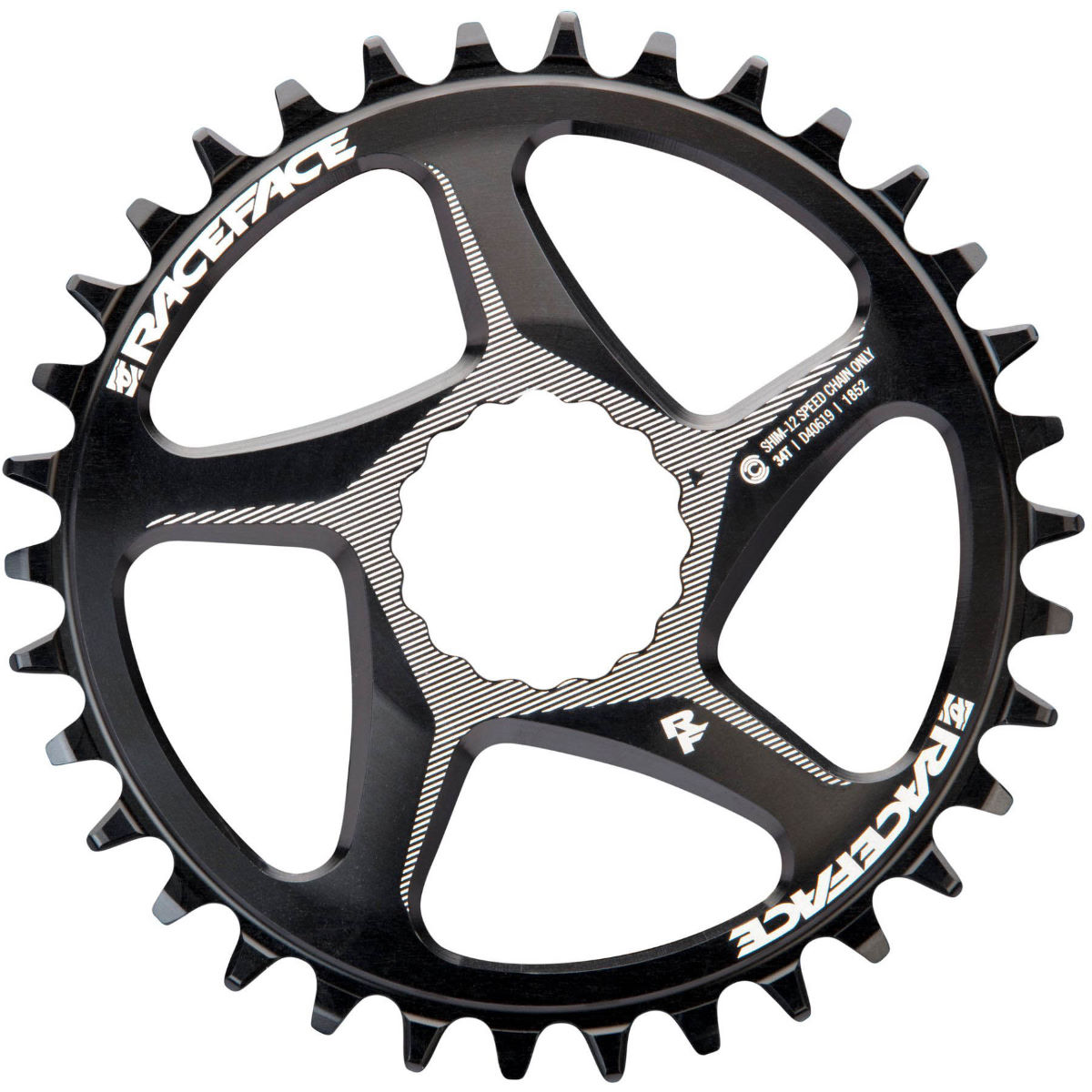 Race Face Direct Mount Shimano Chainring - 34t Black  Chain Rings