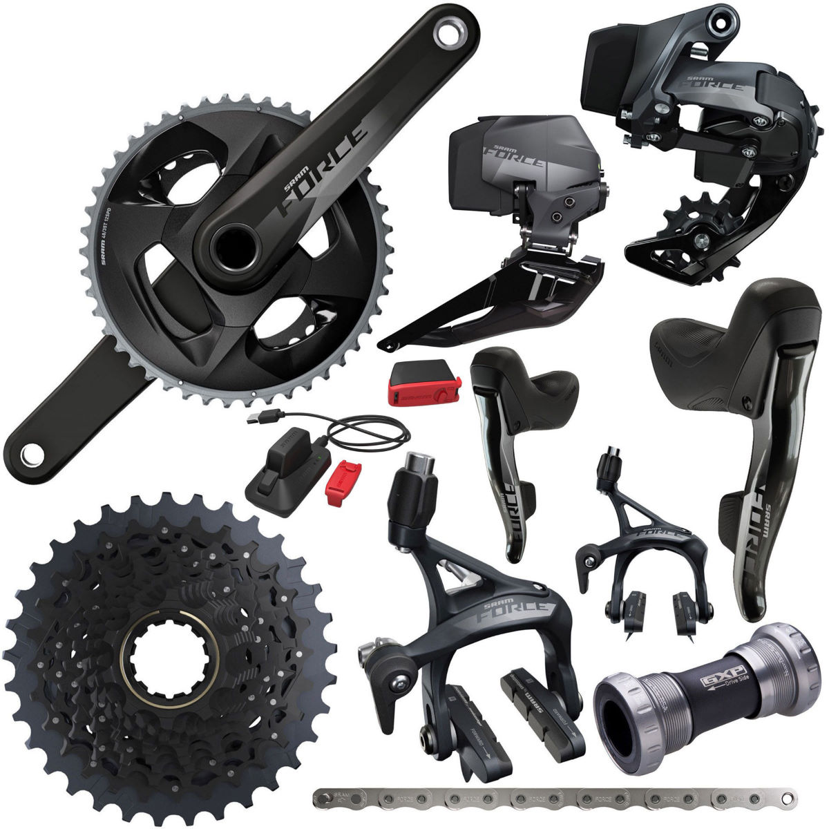 SRAM SRAM Force eTap AXS 2x12Sp Complete Road Groupset   Groupsets
