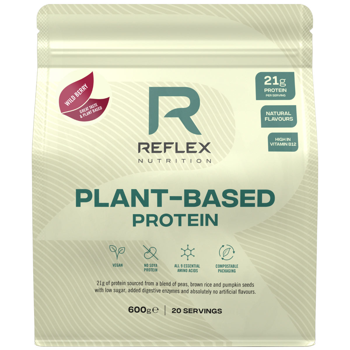 Reflex Reflex Plant Based Protein (600g)   Powdered Drinks