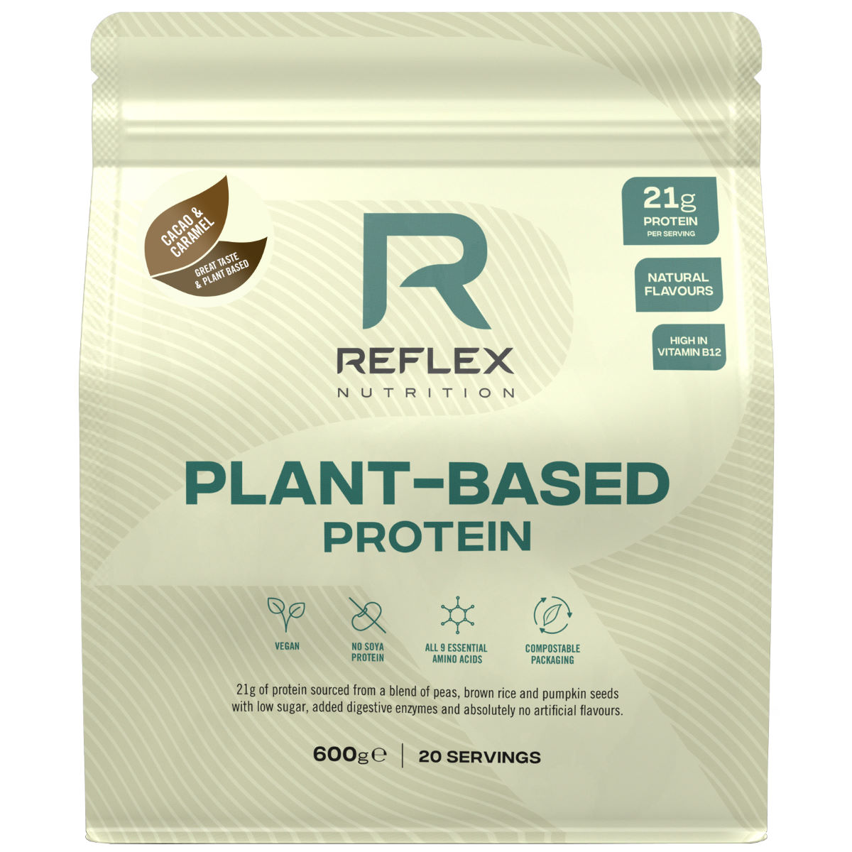Reflex Plant Based Protein (600g) - 600g CacaoandCaramel