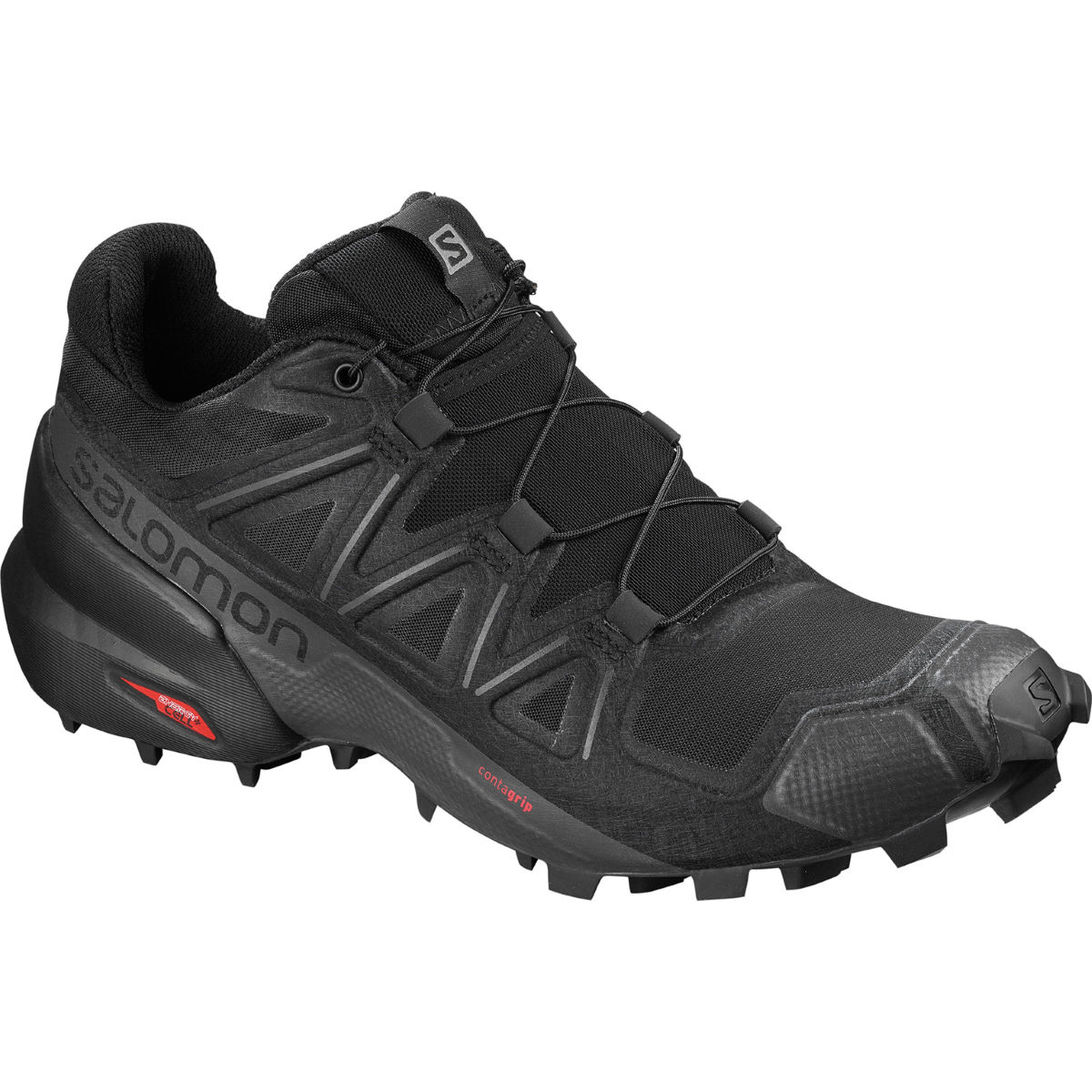 Salomon Women's Speedcross 5 Shoes - UK 4.5 Black/Black | Trail Shoes