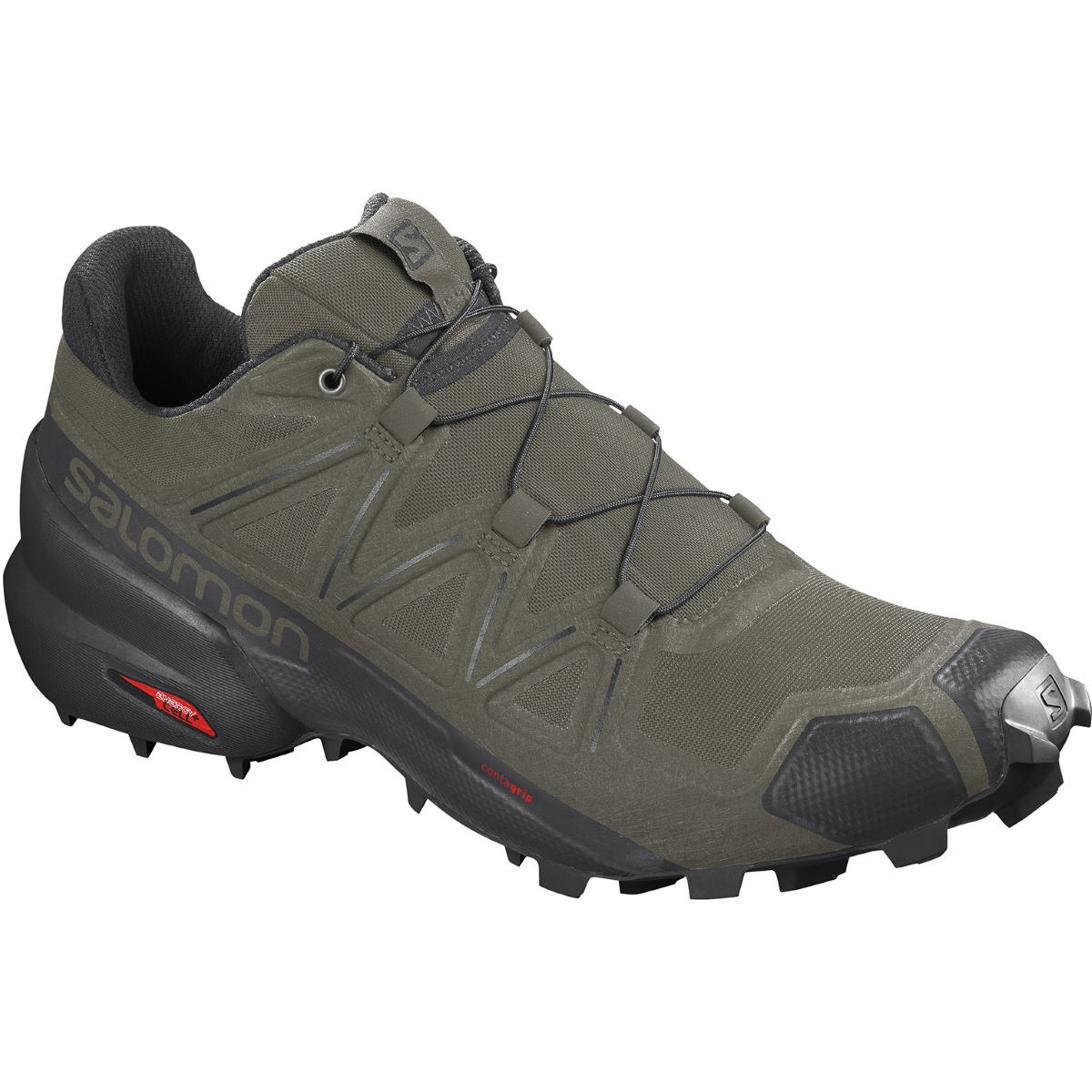 Salomon Speedcross 5 Shoes - UK 7 Grape Leaf/Black | Trail Shoes