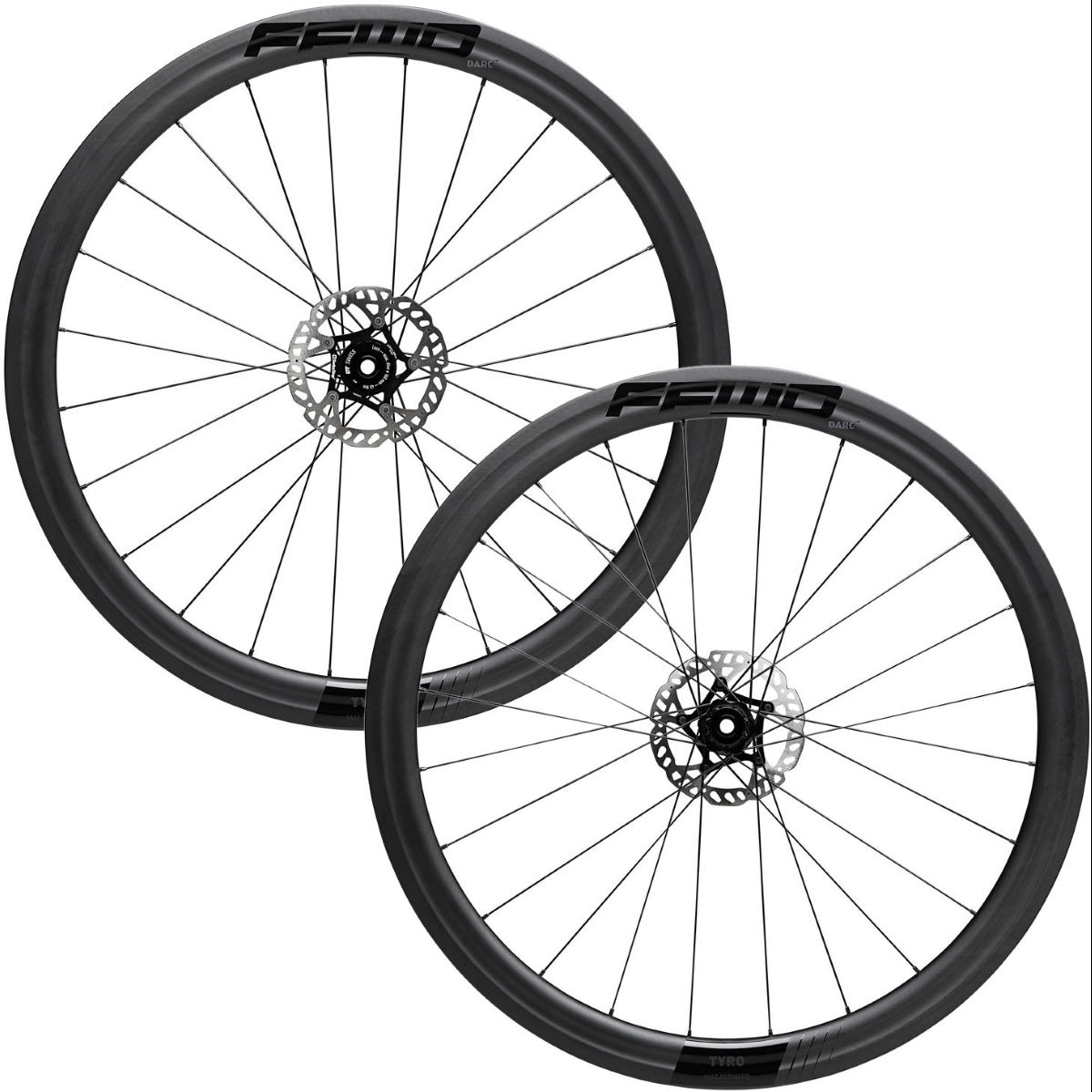 Fast Forward Fast Forward Tyro Carbon Disc 45mm Road Wheelset   Wheel Sets