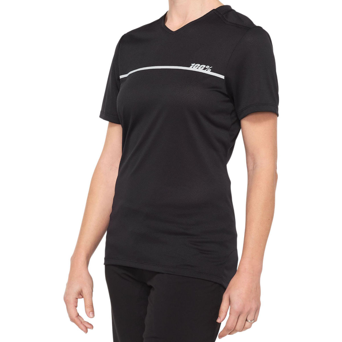 100% Womens Ridecamp Jersey - L Black/grey  Jerseys