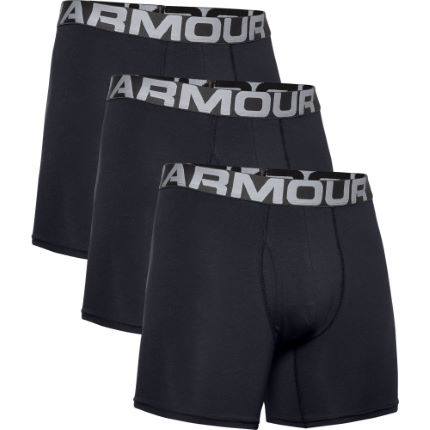 "Under Armour Charged Cotton 6"" Boxer 3 Pack"