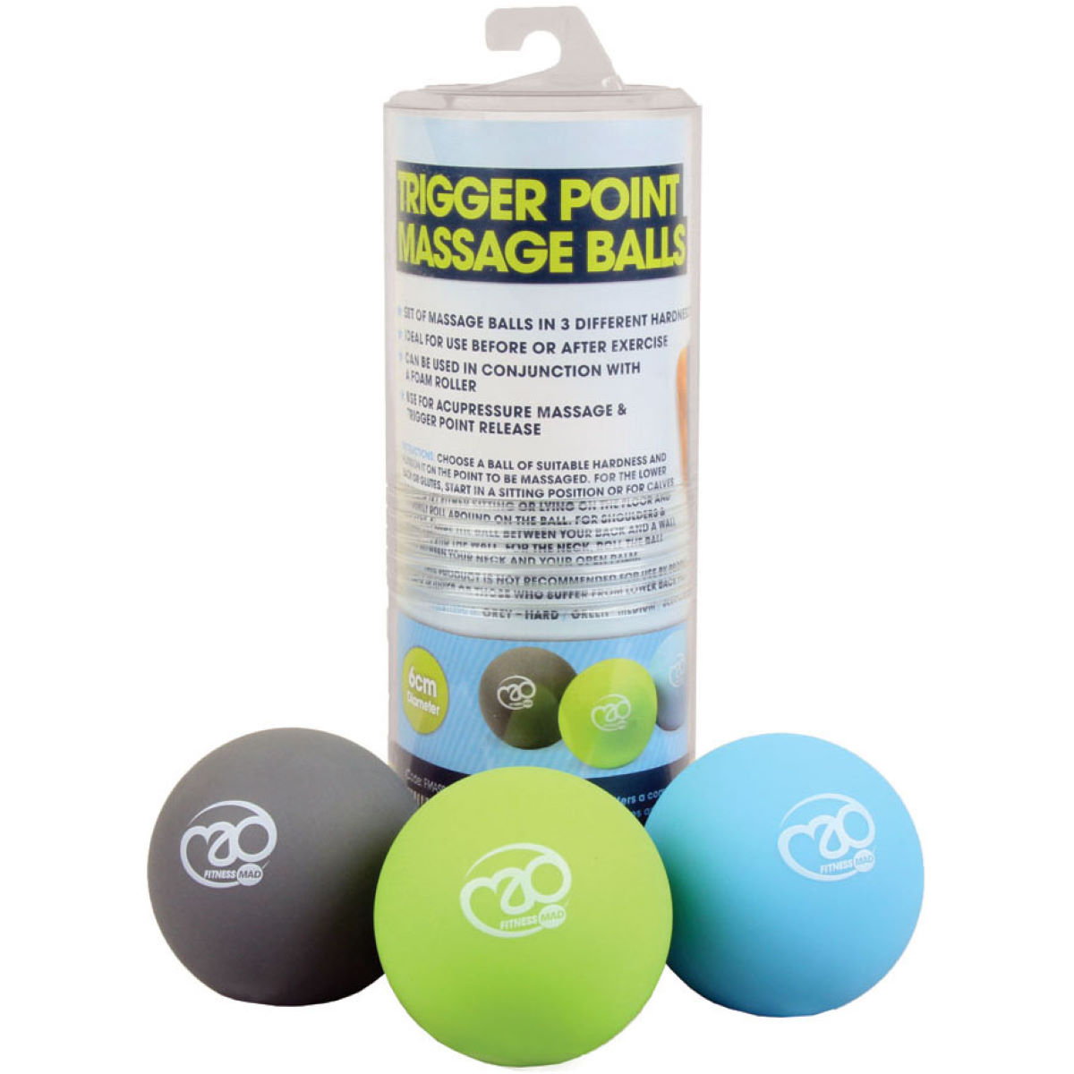 Fitness-mad Trigger Point Massage Ball Set - One Size Neutral