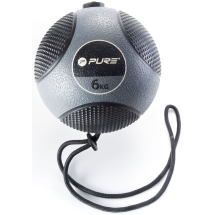 Pure2Improve Medicine Ball with Rope (6kg)