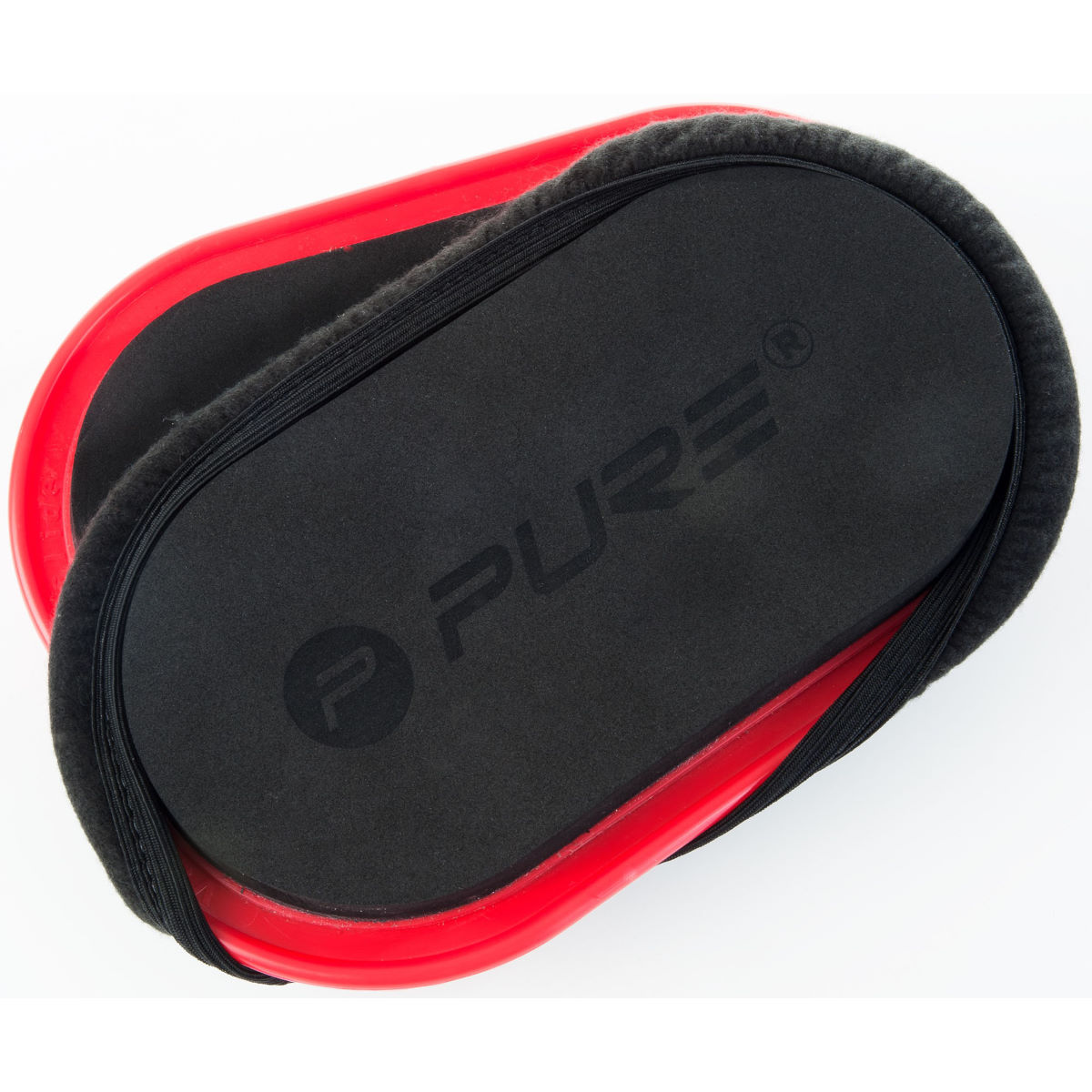 Pure2improve Slide Pads (set Of 2) - One Size Black / Red