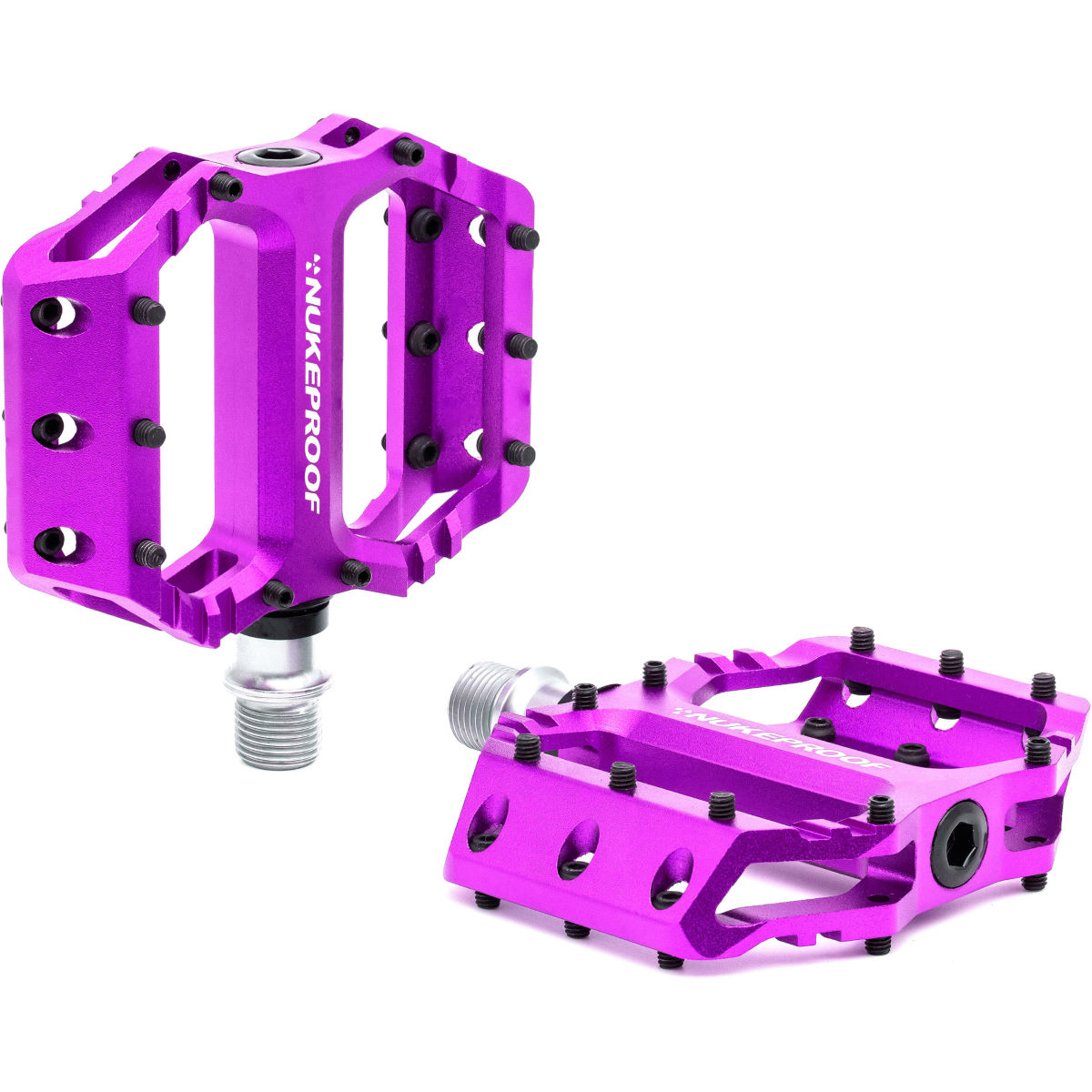 Nukeproof Urchin Youth Flat Pedals - One Size Purple  Flat Pedals