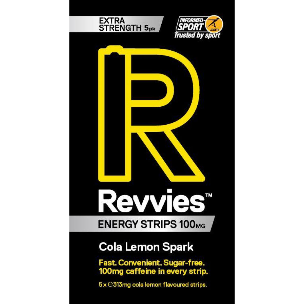 Revvies Revvies Extra Strength Energy Strips (6 x 5 Pack)   Caffeine Tablets
