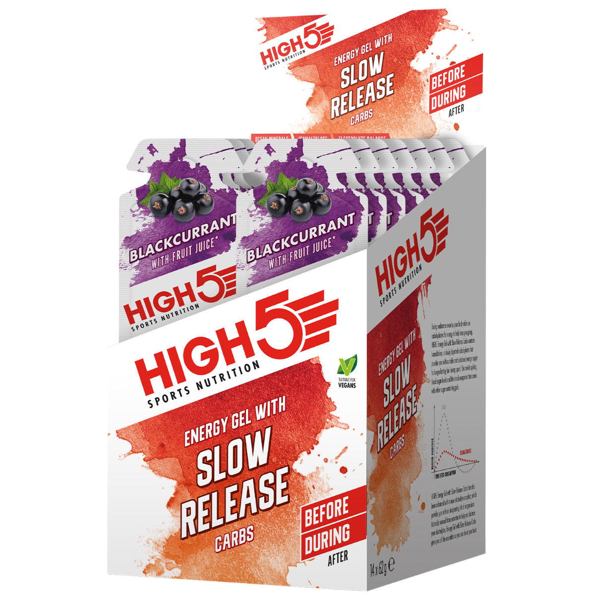 HIGH5 HIGH5 Energy Gel with Slow Release Carbs (14 x 62g)   Gels