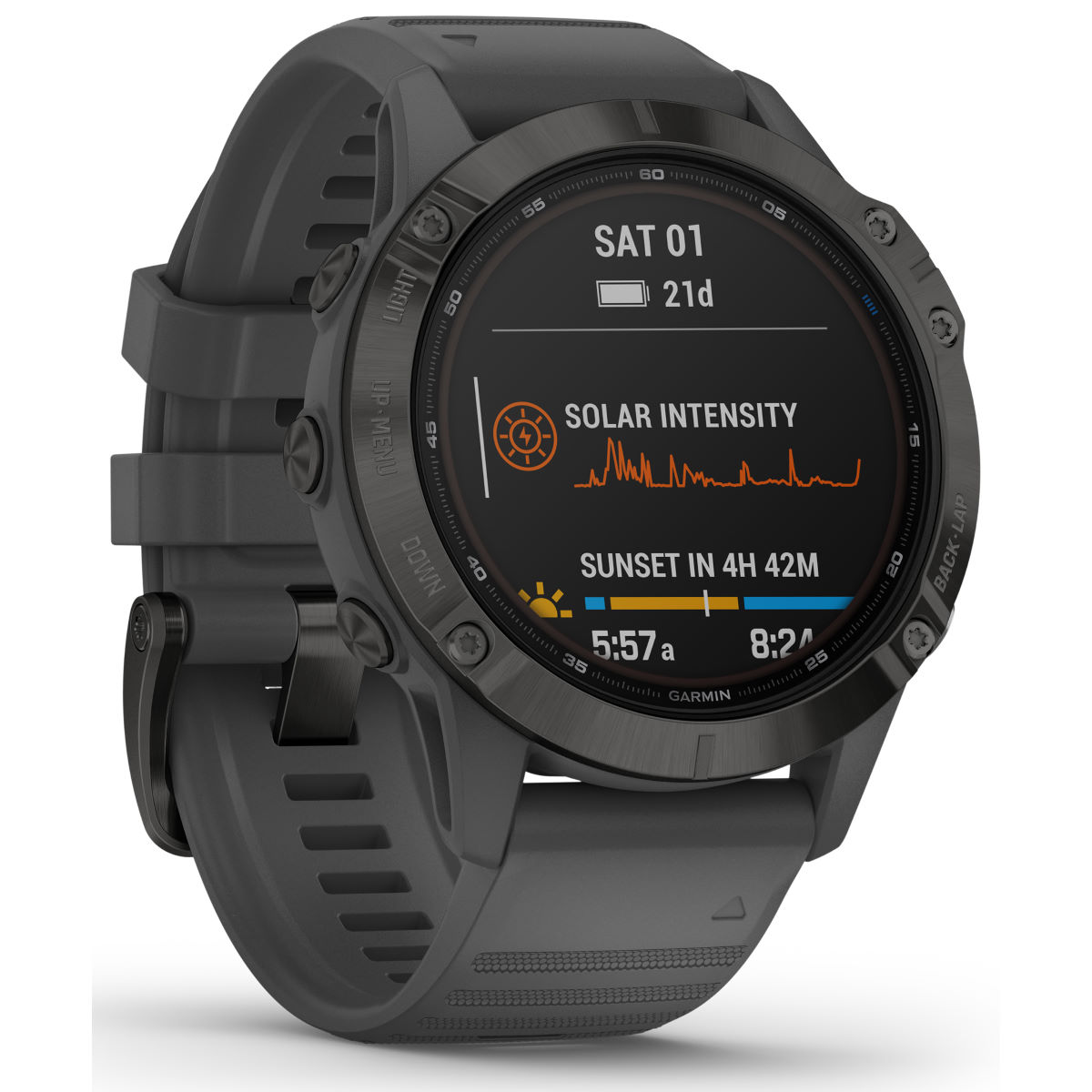 Garmin Garmin Fenix 6 Pro Solar GPS Watch   Watches
