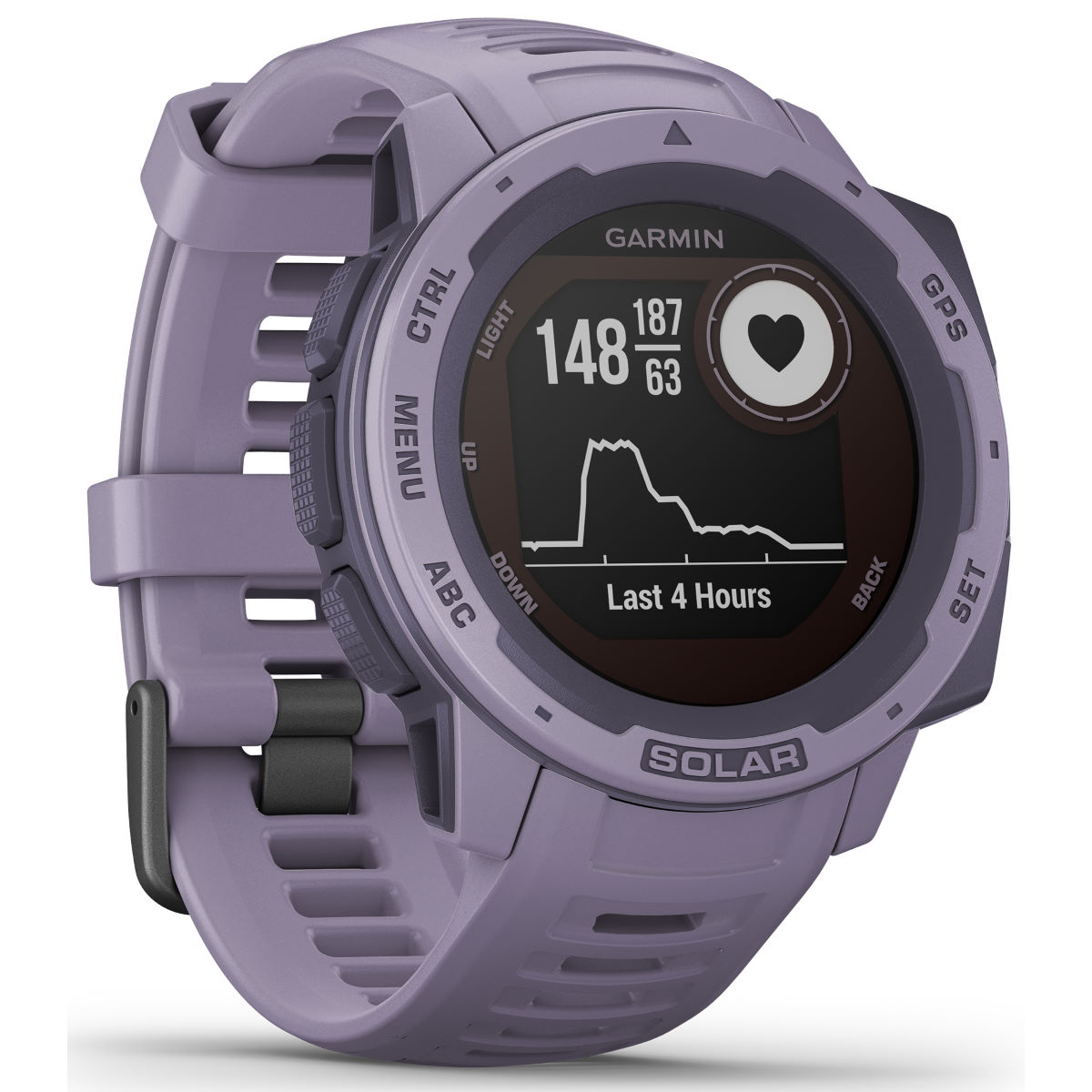 Image of Garmin - Instinct Solar GPS Watch - One Size Orchid | Montres