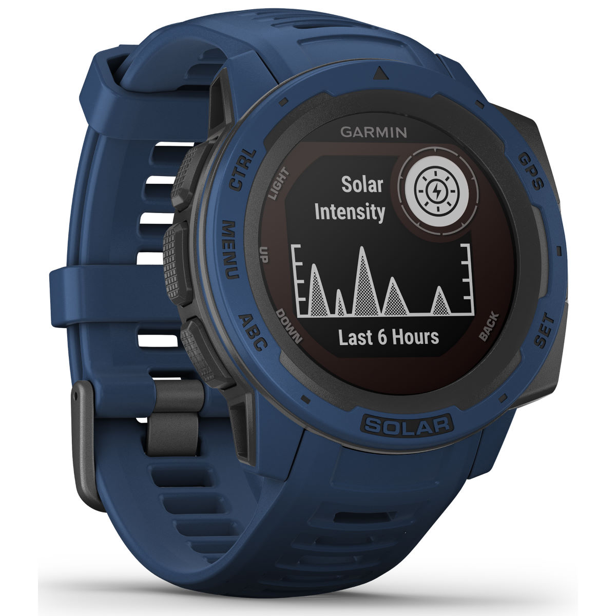 Image of Garmin - Instinct Solar GPS Watch - One Size Tidal Blue | Montres