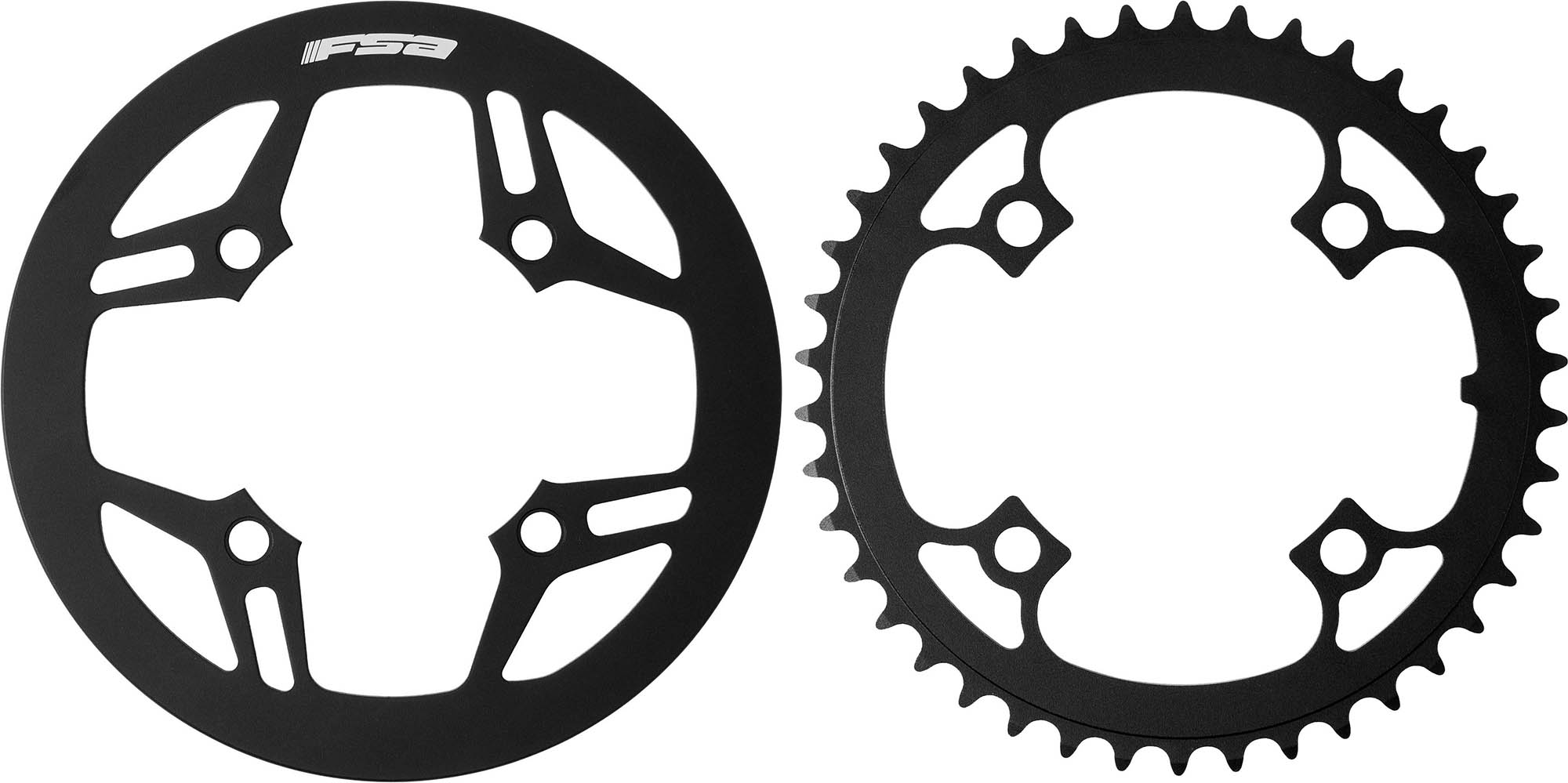 Wiggle Com Fsa Metropolis Chainring And Guard Black 42t Chain Rings