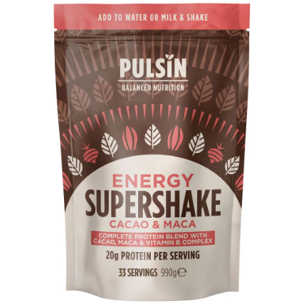 Pulsin Energy Supershake Cacao and Maca (990g)