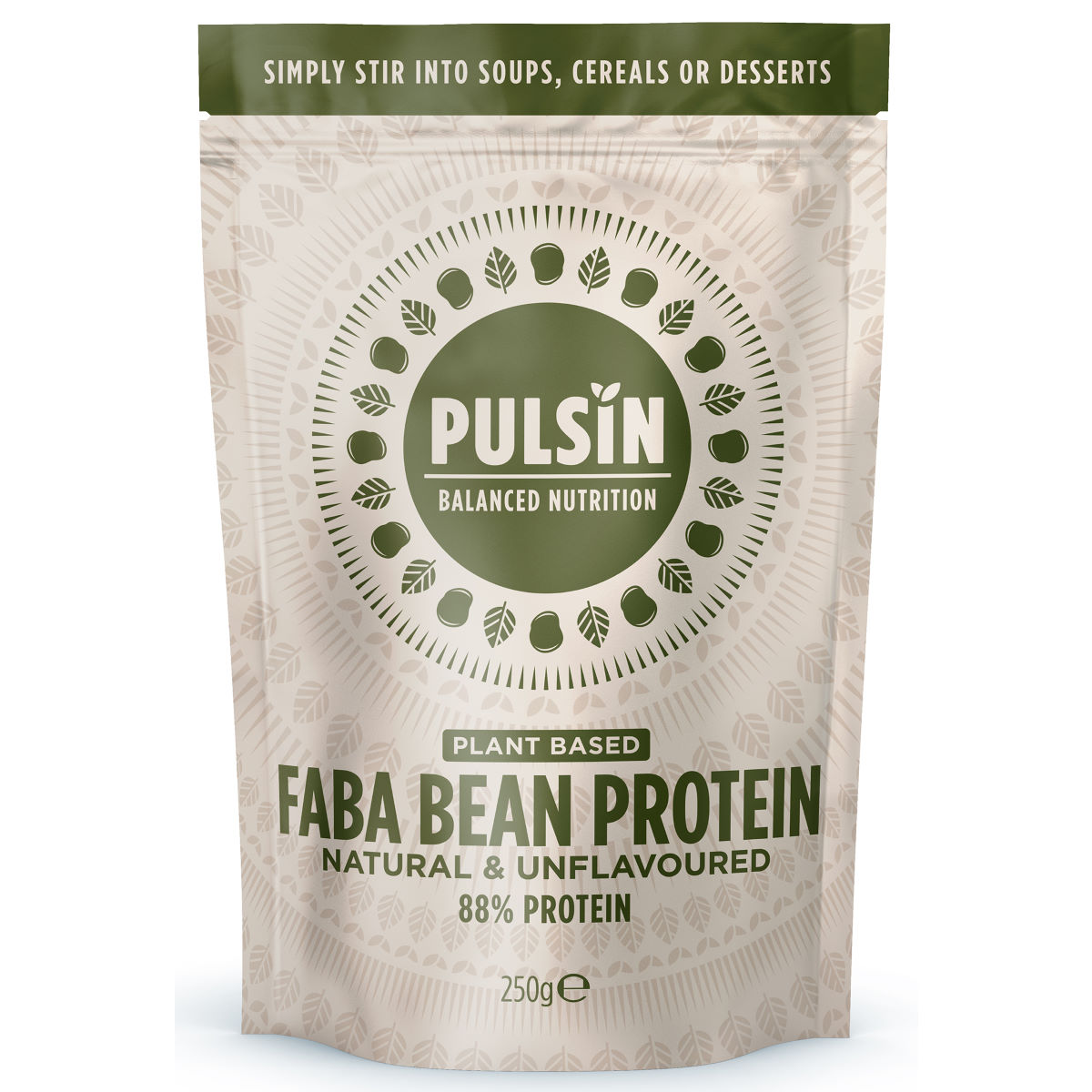Pulsin Faba Bean Protein Powder (250g) - 250g Natural