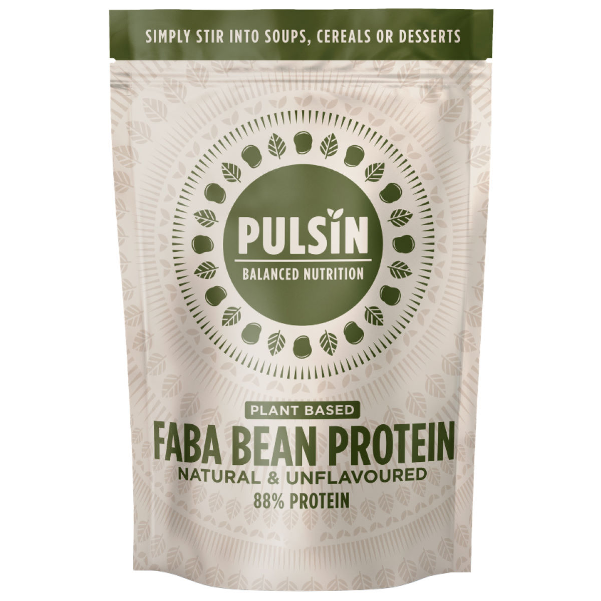Pulsin Faba Bean Protein Powder (1kg) - 1 Kg Natural  Powdered Drinks