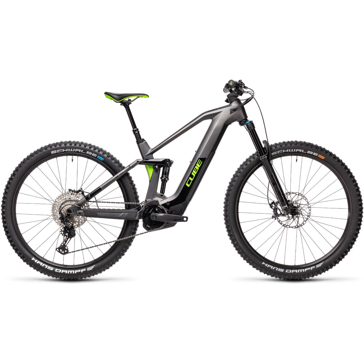 Cube Cube Stereo Hybrid 140 HPC SL 625 E-Bike (2021)   Electric Mountain Bikes