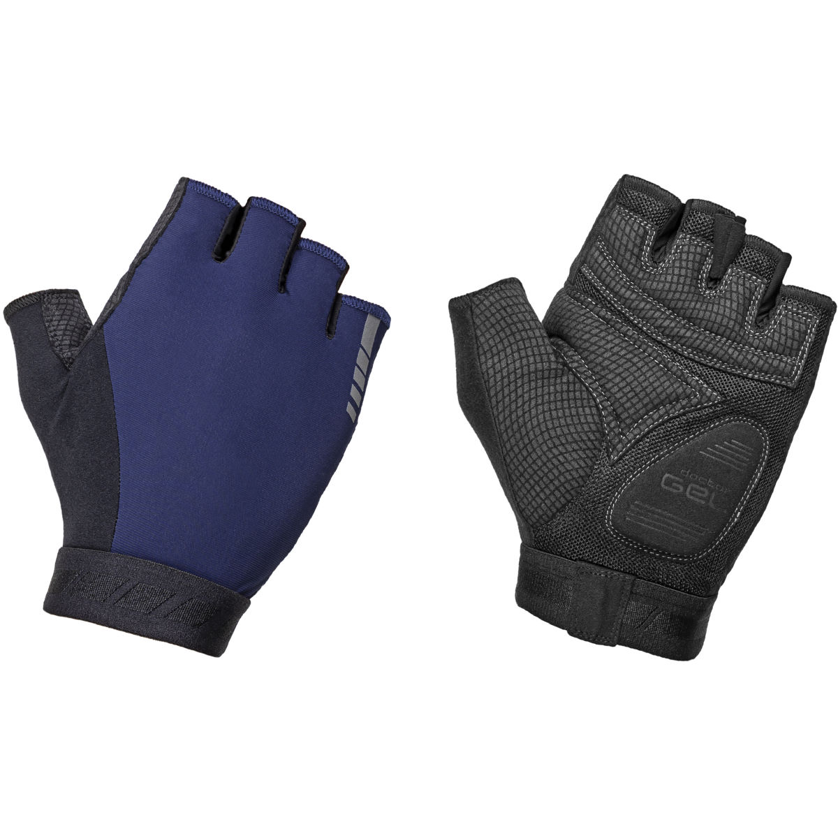 GripGrab WorldCup Short Finger Padded Cycling Gloves - S Navy Blue