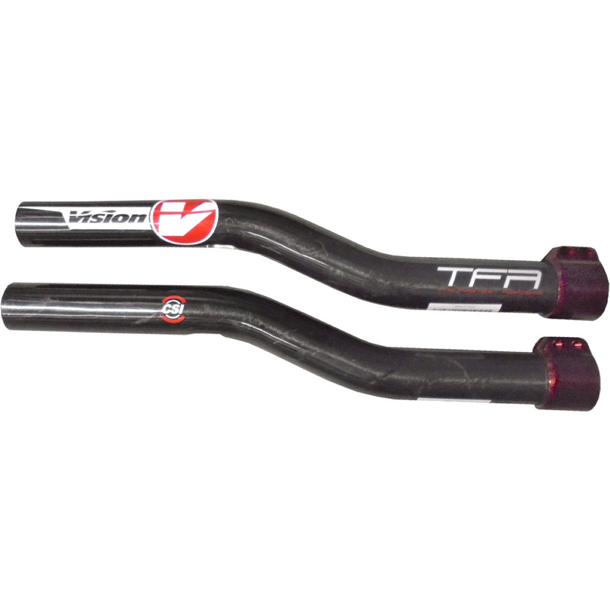 Vision R-bend Carbon Extensions - 300mm Red  Aero Bars